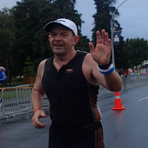 Alastair Duhs competing in Ironman New Zealand