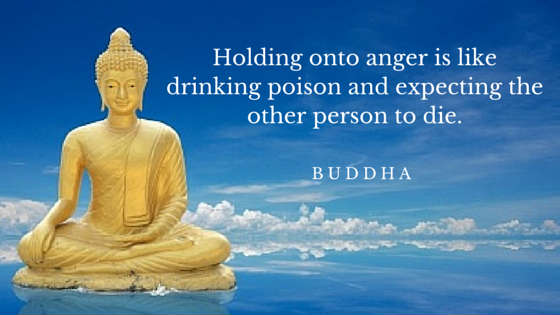 Holding onto anger is like drinking