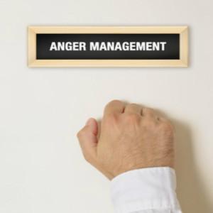 Man knocking at Anger Management Door